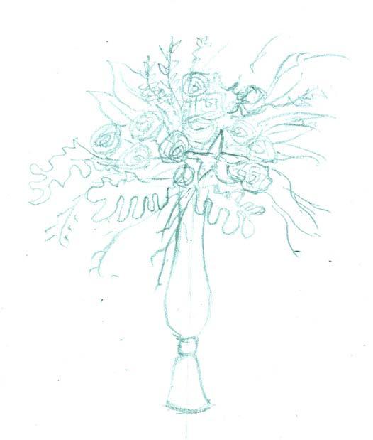 婚礼设计手绘快速表现——花艺